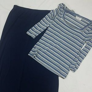 Wrapper   maxi skirt and top 2pc